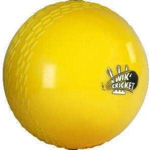 Kwik Cricket Ball Yellow by Podium 4 Sport