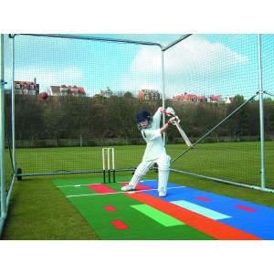 Harrod Premier Portable Cricket Cage - Galvanised Steel by Podium 4 Sport