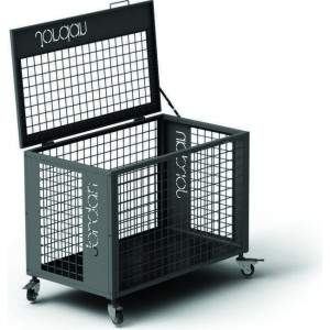 Jordan Wheeled Silver Storage Cage with Lockable Lid-0