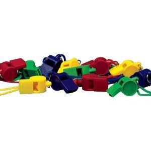 Plastic Whistle Set by Podium 4 Sport