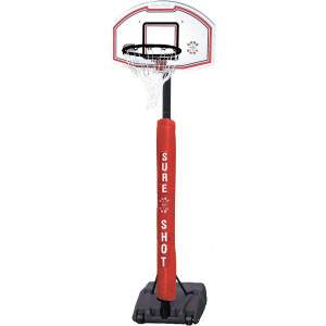 U Just Portable Basketball Unit With Pole Padding by Podium 4 Sport