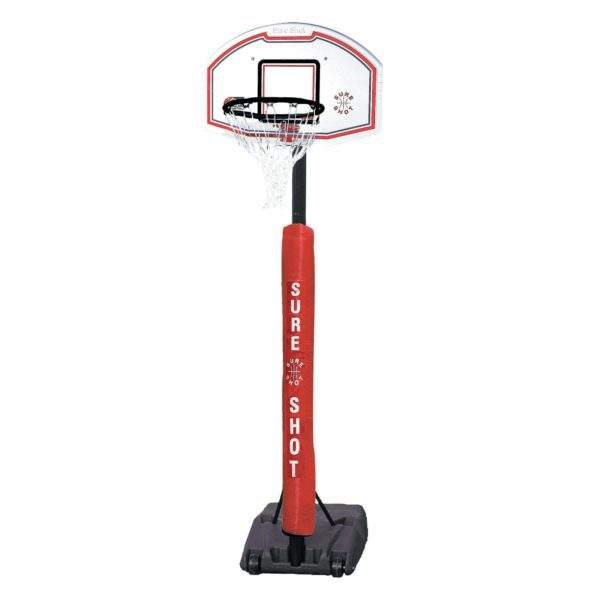 U Just Portable Basketball Unit With Pole Padding by Podium 4 Sport