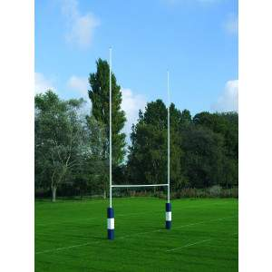 Harrod No 2A Steel Rugby Posts - 9m Socketed by Podium 4 Sport
