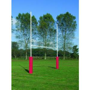Harrod No 3 Steel Rugby Posts - 6m Socketed by Podium 4 Sport