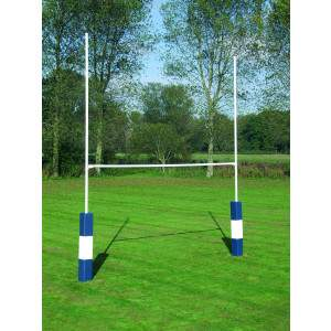 Harrod Heavy Duty Steel Rugby Posts - 6m Socketed by Podium 4 Sport