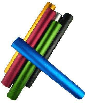 Aluminium Relay Batons by Podium 4 Sport