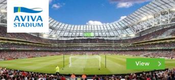 Aviva Stadium installation by Podium 4 Sport