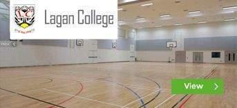 Lagan College sports hall installation by Podium 4 Sport
