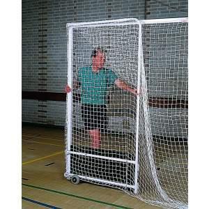 Harrod Indoor Steel Folding Hockey Goal with Practice Backboard-0