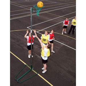 Harrod Wheelaway Netball Posts - 10mm Ring by Podium 4 Sport