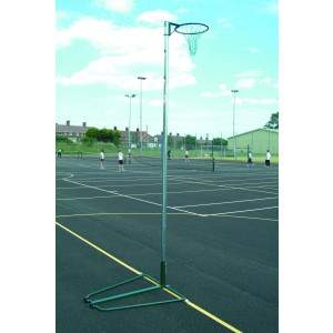 Harrod Regulation Netball Posts - Freestanding, 16mm Ring by Podium 4 Sport