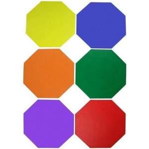 Octagonal Floor Marker Set by Podium 4 Sport