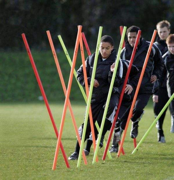 Training Boundary Poles by Podium 4 Sport