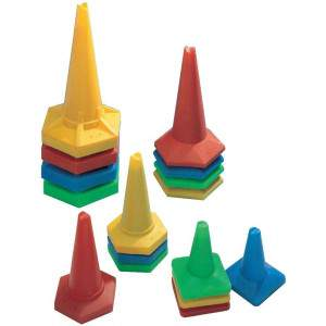 Plastic Stackable Cones by Podium 4 Sport