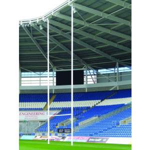 Harrod Aluminium Rugby Posts Hinged by Podium 4 Sport