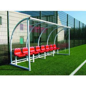 Harrod Socketed Curved Team Shelter 5m by Podium 4 Sport