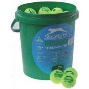 Slazenger Mini Tennis Ball Green 5 Dozen Bucket by Podium 4 Sport