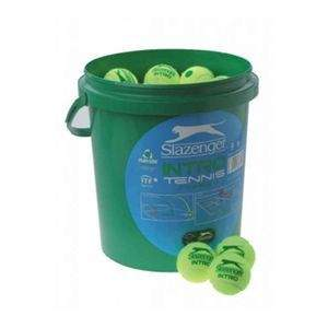 Slazenger Mini Tennis Ball Green 5 Dozen Bucket by Podium 4 Sport