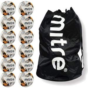 Bulk Buy Mitre Ultimatch Pack of 12 with Free Carrier by Podium 4 Sport