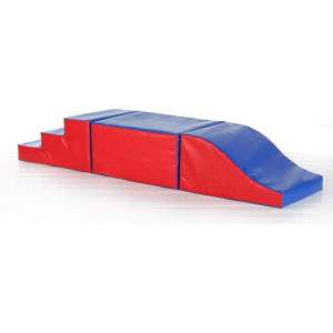 Soft Play First Climb & Slide Play Set with Half Cube by Podium 4 Sport