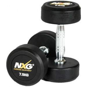 NXG Rubber Dumbbell Pair 7.5kg by Podium 4 Sport
