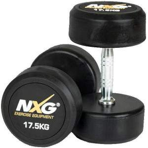 NXG Rubber Dumbbell Pair 17.5kg by Podium 4 Sport
