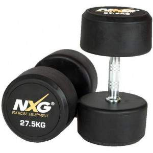 NXG Rubber Dumbbell Pair 27.5kg by Podium 4 Sport