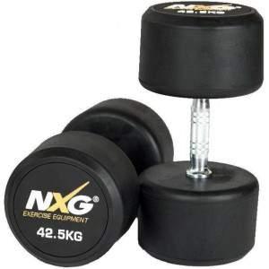 NXG Rubber Dumbbell Pair 42.5kg by Podium 4 Sport