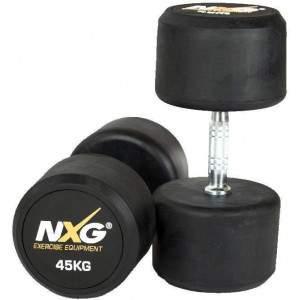 NXG Rubber Dumbbell Pair 45kg by Podium 4 Sport