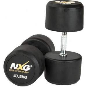 NXG Rubber Dumbbell Pair 47.5kg by Podium 4 Sport