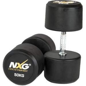 NXG Rubber Dumbbell Pair 50kg by Podium 4 Sport