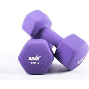 NXG Neoprene Dumbbell Pair 10kg by Podium 4 Sport