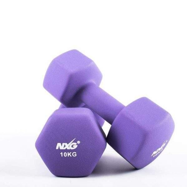 NXG Neoprene Dumbbell Pair 10kg by Podium 4 Sport