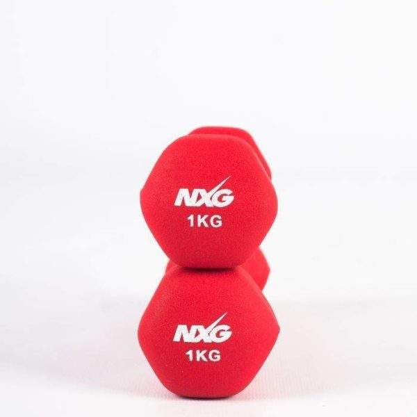 NXG Neoprene Dumbbell Pair 1kg by Podium 4 Sport
