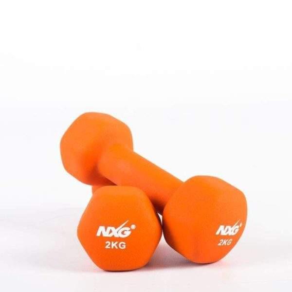 NXG Neoprene Dumbbell Pair 2kg by Podium 4 Sport