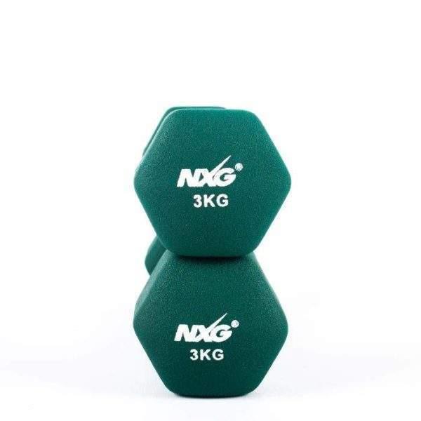 NXG Neoprene Dumbbell Pair 3kg by Podium 4 Sport