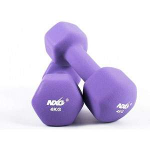 NXG Neoprene Dumbbell Pair 4kg by Podium 4 Sport