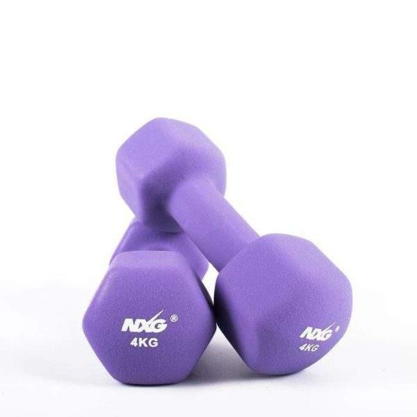 NXG Neoprene Dumbbell Pair 4kg by Podium 4 Sport