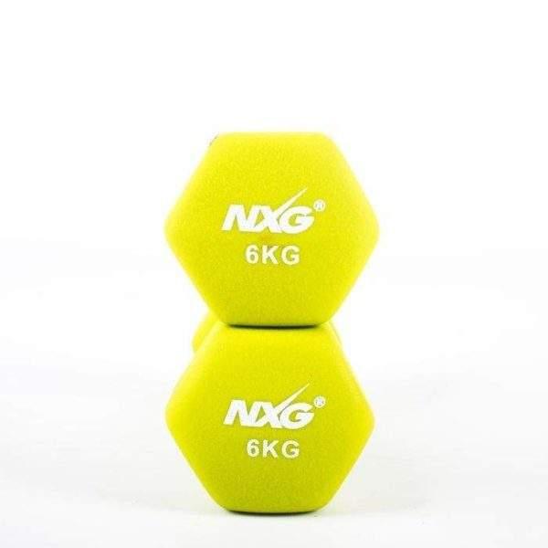 NXG Neoprene Dumbbell Pair 6kg by Podium 4 Sport