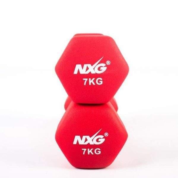 NXG Neoprene Dumbbell Pair 7kg by Podium 4 Sport
