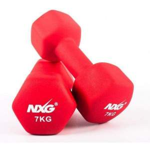NXG Neoprene Dumbbell Pair 7kg by Podium 4 Sport