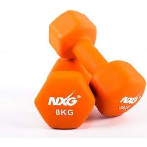 NXG Neoprene Dumbbell Pair 8kg by Podium 4 Sport