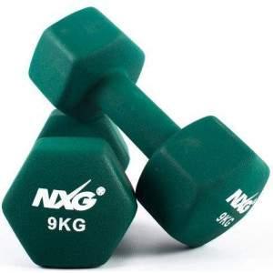 NXG Neoprene Dumbbell Pair 9kg by Podium 4 Sport