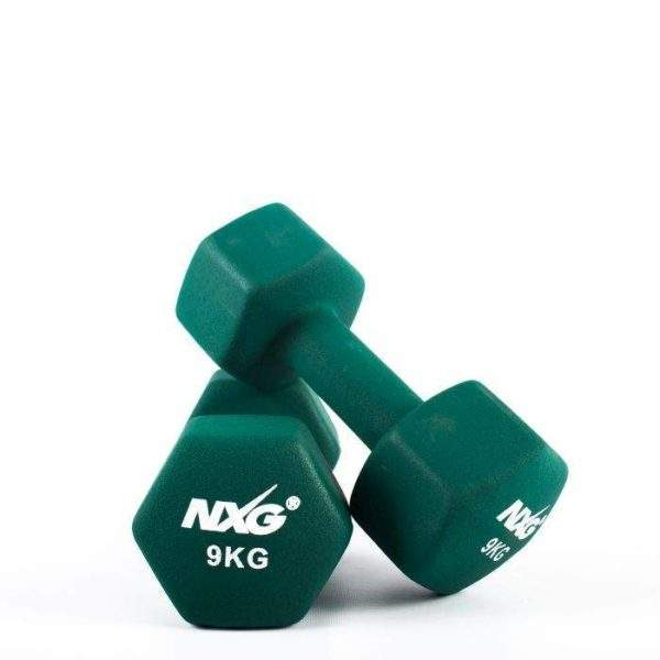 NXG Neoprene Dumbbell Pair 9kg by Podium 4 Sport
