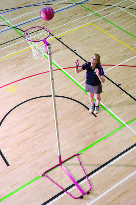 Harrods Pink Freestanding Netball Posts