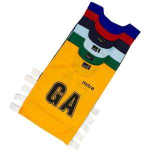 Mitre Netball Bibs Large by Podium 4 Sport