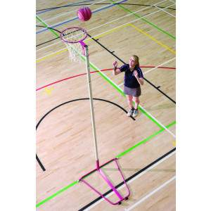 Harrod Pink Netball Posts - Freestanding, 16mm Ring by Podium 4 Sport