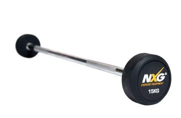 NXG Rubber Barbell 15kg by Podium 4 Sport