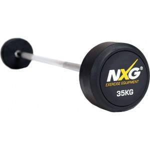 NXG Rubber Barbell 35kg by Podium 4 Sport