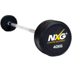 NXG Rubber Barbell 40kg by Podium 4 Sport